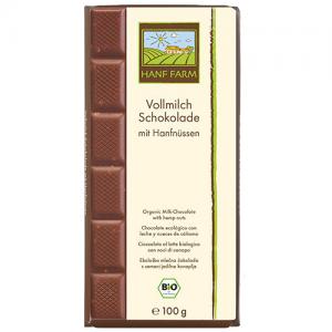 Bio Vollmilchschokolade mit Hanfnüssen