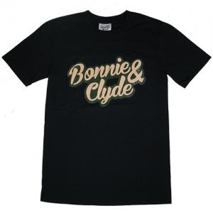Bonnie & Clyde T-Shirt Schrift Gross (..