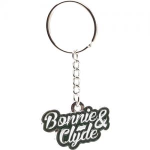 Schlüsselanhänger Bonnie & Clyde Schrift
