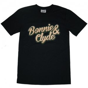 Bonnie & Clyde T-Shirt Schrift Gross (Black)