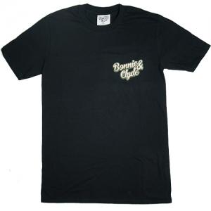 Bonnie & Clyde T-Shirt Schrift klein (Black)